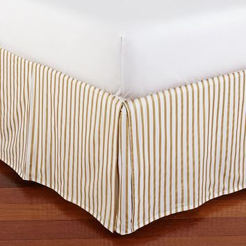 The Emily & Meritt Metallic Stripe Bed Skirt