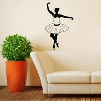 Housewares Wall Vinyl Decal Dancer Girl Ballet Ballerina Sport Home Art Decor Kids Nursery Removable Stylish Sticker Mural Unique Design for Any Room
