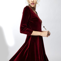Run For Life Velvet Skater Dress