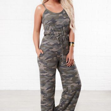She's In Command Camo Jumpsuit (Camo)