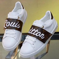 LV Louis Vuitton New fashion print embroidery letter sports running women shoes