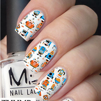 Full Robot Nail decal