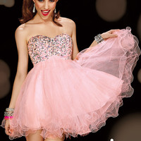 Alyce Paris 3594 - Misty Pink Strapless Empire Sweet 16 Dresses Online
