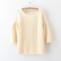 Plain Sleeve Knitted Shirt
