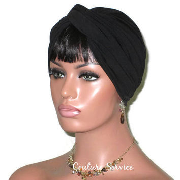 Handmade Black Twist Turban