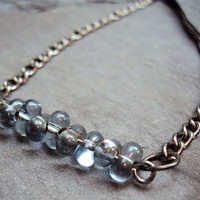 Glass Bead Necklace Choose Your Color~ Girly Grunge ~ Soft Grunge ~ Indie Necklace ~ Hipster Necklace ~ Black Necklace ~ Grunge Necklace