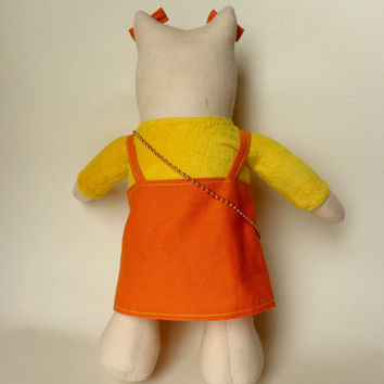 Soft toy cat-plush toy for kids-stuffed toy cat-Tilda -gift girl