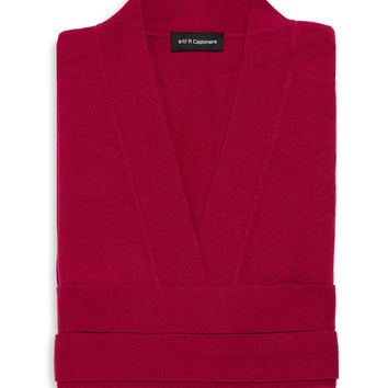 a & R Cashmere Cashmere & Wool Robe - Pink