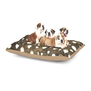 "Iris Lehnhardt ""Dots Grunge"" Brown White Dog Bed"