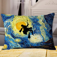 HARRY POTTER Van Gogh Starry Night on Rectangle Pillow Cover