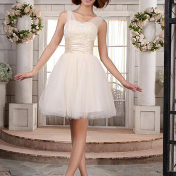 New Arrival  Cocktail Dresses 2017 Sexy Sweetheart Neck Organza Mini A Line Party Dress Vestido De Festa Curto
