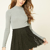 Eyelash Lace Mini Skirt
