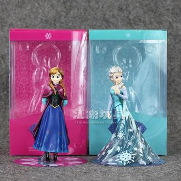 Frozen Disney Elsa Princess Anne PVC Action Figure 14CM With Box Collection Model Anime Brinquedos Best Gifts for Girls