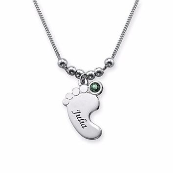 Cute Baby Foot Pendant Necklace High Quality Necklaces