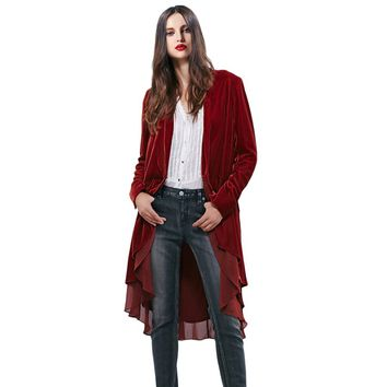 New Velvet Womens Chiffon Trim Cardigan Wrap  Jacket Outwear