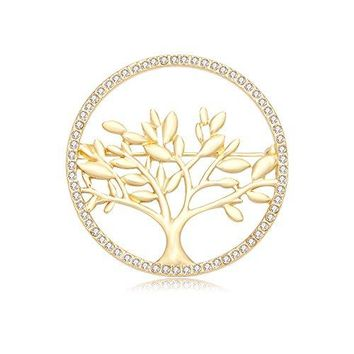 CHUANGYUN Gold Plated Life Tree Delicate Safety Broohes Pins Corsages Unisex WomenampMen