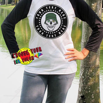 Design Your Own T Shirt Team Shirts School Shirts Personalized Custom Stone Roses Skull Baseball Shirt Unisex Your Text Here Tee Shirt