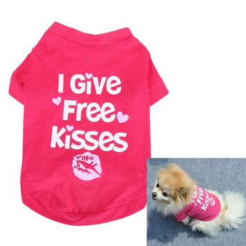 Fashion Middle Puppy Dog Cotton Printed Vest T-Shirt Pet Clothes = 1929713732