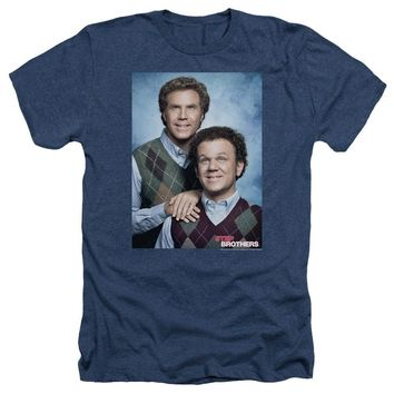 Step Brothers Heather T-Shirt Portrait Navy Tee