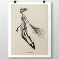 Fairy (version 3) Illustrated Art Print