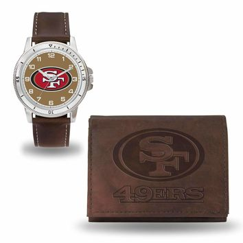 49ERS BROWN WATCH AND WALLET