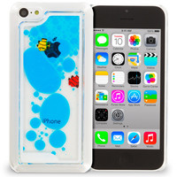Blue Fish Tank 3D Liquid Moving Gel Case Cover for Apple iPhone 5C
