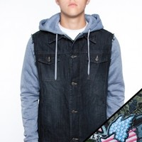 Glamour Kills Clothing - Guys The Search Party Denim Jacket + Patch Set Bundle