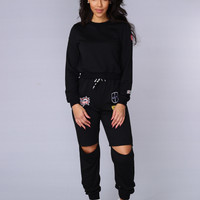 Top Rank Sweatshirt - Black
