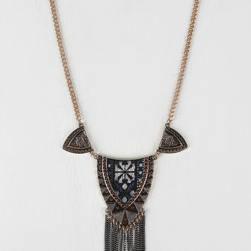 Fabric Tribal Design Necklace