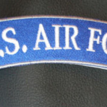 US Air Force Patch Rocker for Biker motorcycle vest or Jacket Brand  New