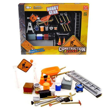 Construction Accessories Set For 1-24 Diecast Car Models by Phoenix Toys