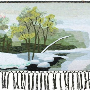 ESBU3C Landscape series handmade art tapestry tapestry wall mural paintings 011