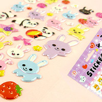 Buy Kawaii Panda & Bunny Sponge Stickers at Tofu Cute