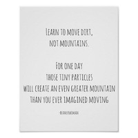 Poster For Framing Move Dirt Not Mountains
