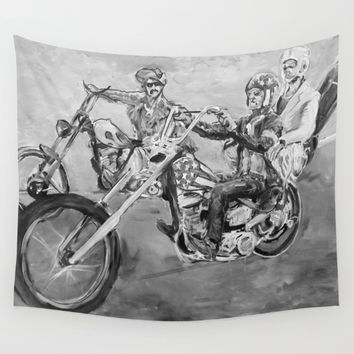 Easy rider black and white Wall Tapestry by Tony Silveira