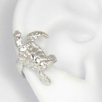 Sterling Silver Turtle Ear Cuff Right Earring