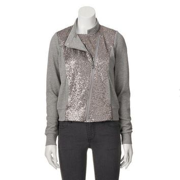 Juicy Couture Sequin French Terry Jacket   Women's Size: