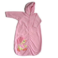 Pink Hooded Sleep Sack Duck With Umbrella Newborn - Birth to 3 months by Mon Petit Chou, Ltd. Circa 1980