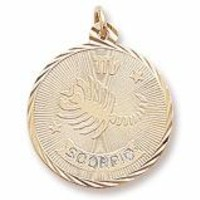 Scorpio Charm In Yellow Gold