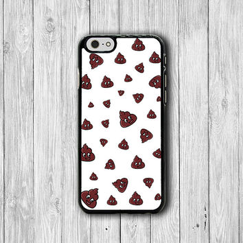 Funny Emoji Poop Cartoon Cute Japanese Unji  iPhone 6 6S Cases,  iPhone 6 Plus Cover, Phone 5/5S, iPhone 4/4S Hard Case, Accessories Gift