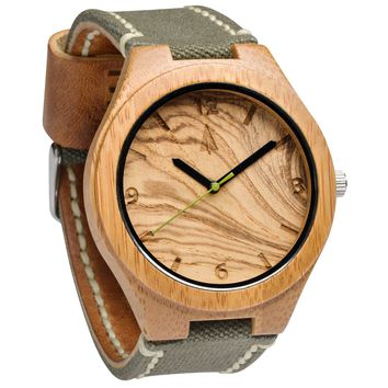 Wooden Watch // Lakeside Khaki Green