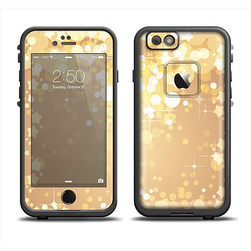 The Gold Unfocused Sparkles Apple iPhone 6 LifeProof Fre Case Skin Set