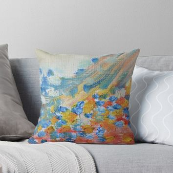 'Pretty Pastel Abstract Oil Painting' Throw Pillow by ThatsMyStyle