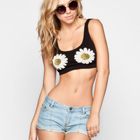 See You Monday Hello Daisy Bralette Black Combo  In Sizes