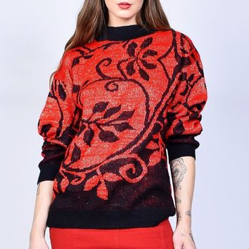 ECH Vintage Magic Floral Sweater