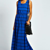 Beth Graphic Stripe Chiffon Dress