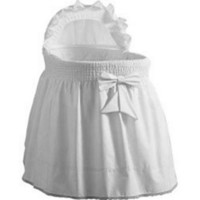 Baby Doll Sea Shell Bassinet Bedding White Infant Portable Crib Bed Sleeper Set