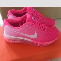 """""""NIKE"""" Trending Fashion Casual Sports Shoes Air section pink white"""