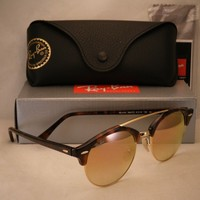 Ray Ban 4346 Shiny Red Havana w Copper Gradient Mirror Lens (RB4346 990/7O)