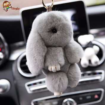 Premium Quality Super Soft Fluffy Adorable Plush Rabbit Stuffed Bunny Animal Small Pendant Hanging Toy 13cm 5'' Height Gift